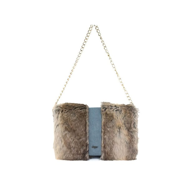Brown Feather/Fur Wedding Feather/Fur Handbags #LDB03160229