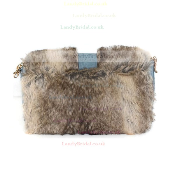 Brown Feather/Fur Wedding Feather/Fur Handbags