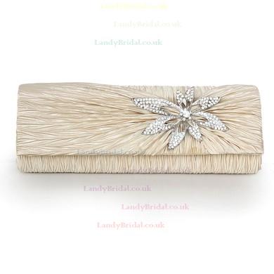 Black Silk Wedding Crystal/ Rhinestone Handbags #LDB03160230