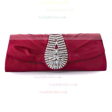 Black Silk Wedding Crystal/ Rhinestone Handbags #LDB03160231