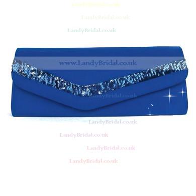 Black Silk Wedding Sequin Handbags #LDB03160232
