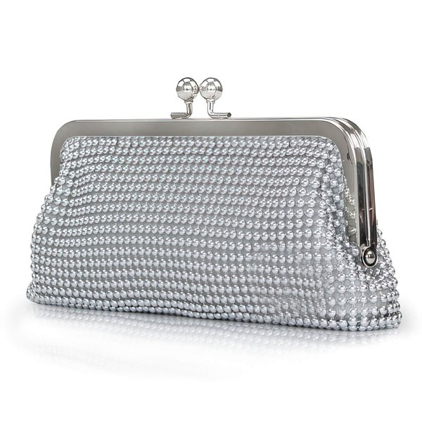 Silver Crystal/ Rhinestone Ceremony & Party Crystal/ Rhinestone Handbags