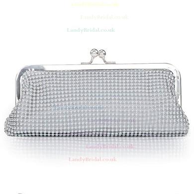 Silver Crystal/ Rhinestone Ceremony & Party Crystal/ Rhinestone Handbags #LDB03160234