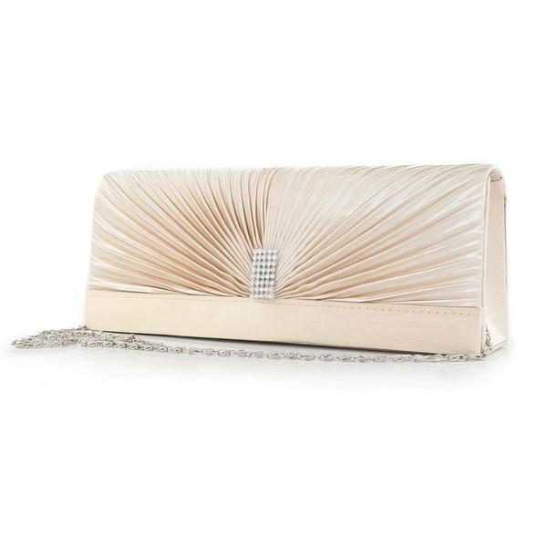 White Silk Wedding Crystal/ Rhinestone Handbags