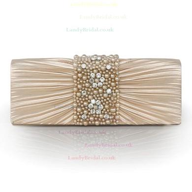 Black Silk Wedding Crystal/ Rhinestone Handbags #LDB03160236