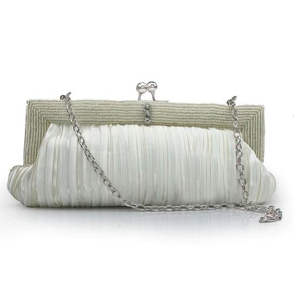 Purple Silk Wedding Beading Handbags