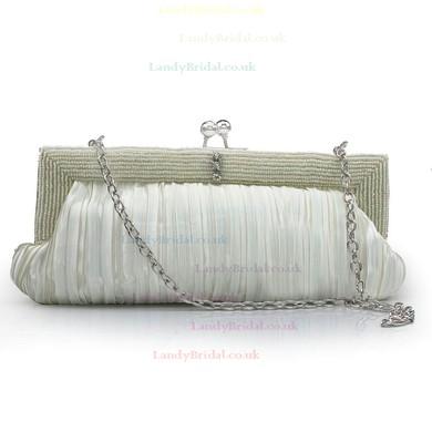 Purple Silk Wedding Beading Handbags #LDB03160237