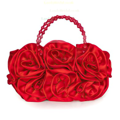Black Silk Wedding Flower Handbags #LDB03160238