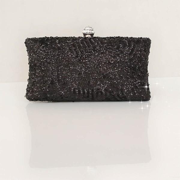 Black Silk Wedding Sequin Handbags