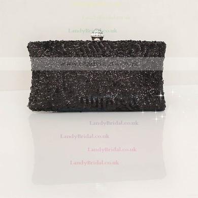 Black Silk Wedding Sequin Handbags #LDB03160239