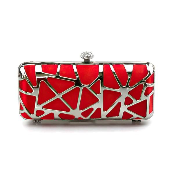 Silver Silk Wedding Metal Handbags