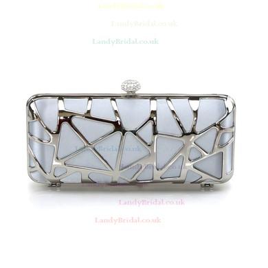 Silver Silk Wedding Metal Handbags #LDB03160242