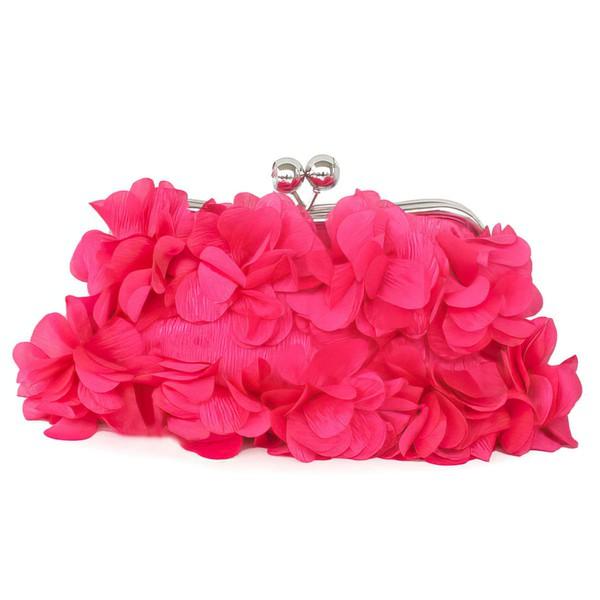 White Silk Wedding Flower Handbags