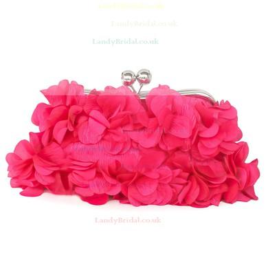 White Silk Wedding Flower Handbags #LDB03160244
