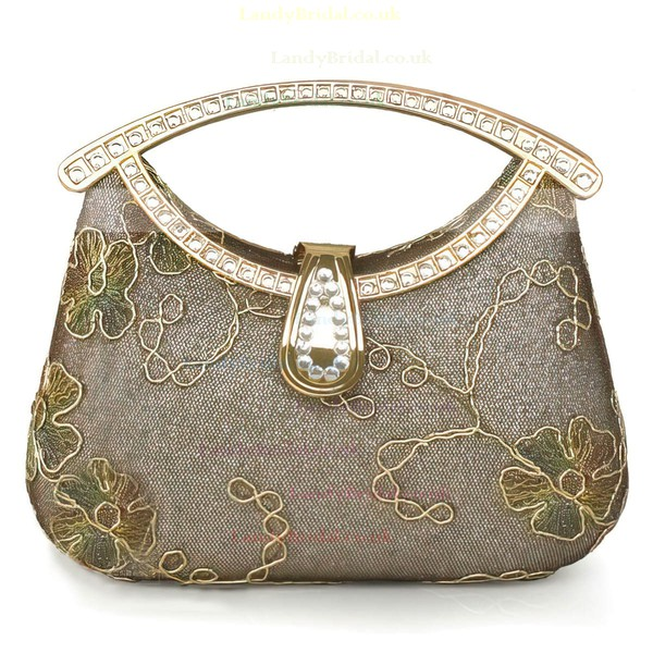 Gold Metal Ceremony & Party Crystal/ Rhinestone Handbags