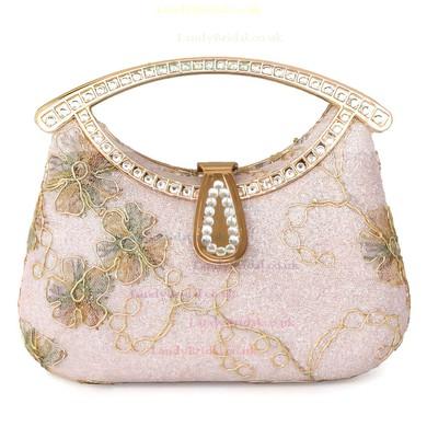 Gold Metal Ceremony & Party Crystal/ Rhinestone Handbags #LDB03160245