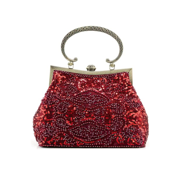 Black Metal Wedding Beading Handbags #LDB03160246