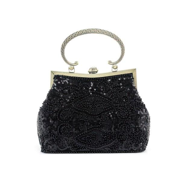 Black Metal Wedding Beading Handbags