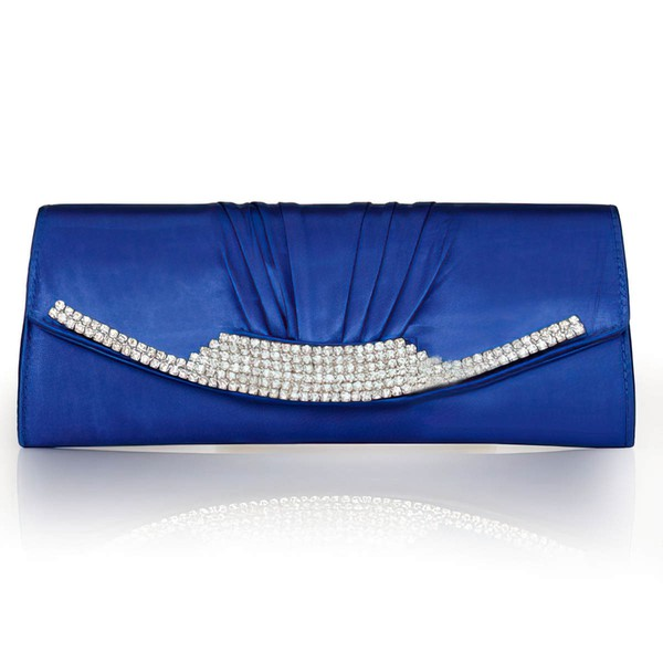 Silver Silk Ceremony & Party Crystal/ Rhinestone Handbags #LDB03160250