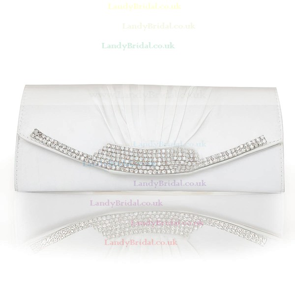 Silver Silk Ceremony & Party Crystal/ Rhinestone Handbags