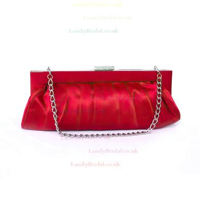 Silver Silk Ceremony & Party Crystal/ Rhinestone Handbags #LDB03160251