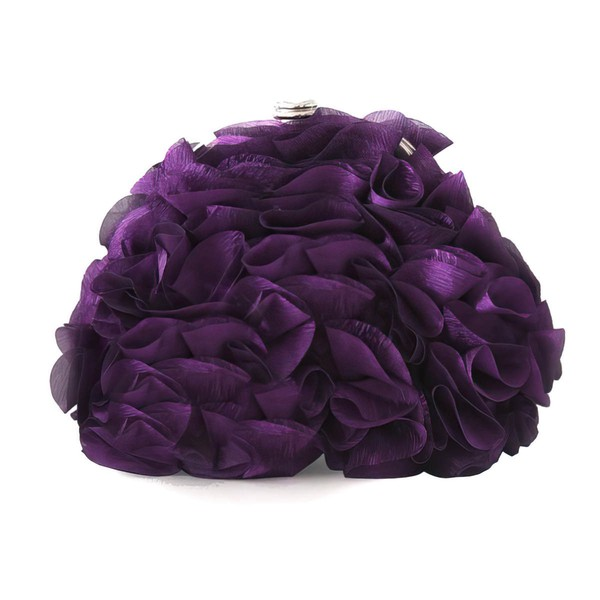Red Silk Wedding Ruffles Handbags #LDB03160252