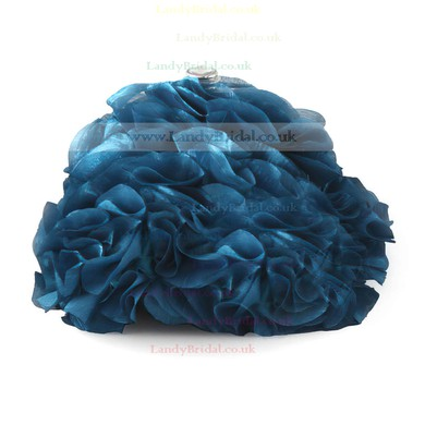 Red Silk Wedding Ruffles Handbags #LDB03160252