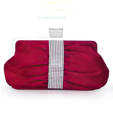 Blue Silk Wedding Crystal/ Rhinestone Handbags #LDB03160253