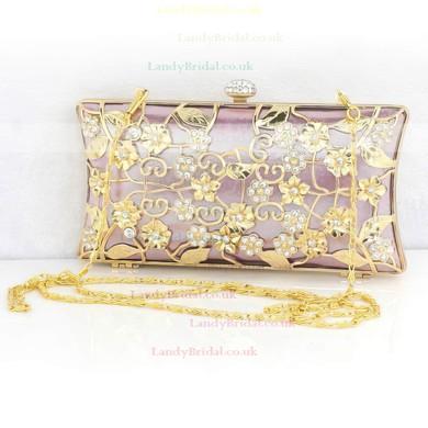 Red Metal Wedding Flower Handbags #LDB03160254