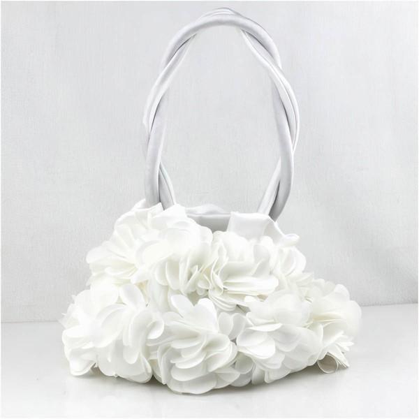 Black Silk Wedding Ruffles Handbags