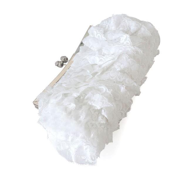 White Lace Wedding Metal Handbags