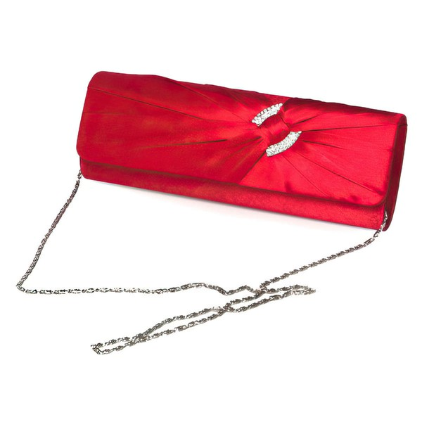 Red Silk Wedding Crystal/ Rhinestone Handbags #LDB03160263