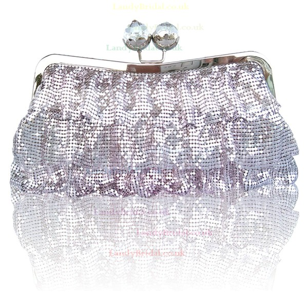 Black Sequin Wedding Metal Handbags #LDB03160265