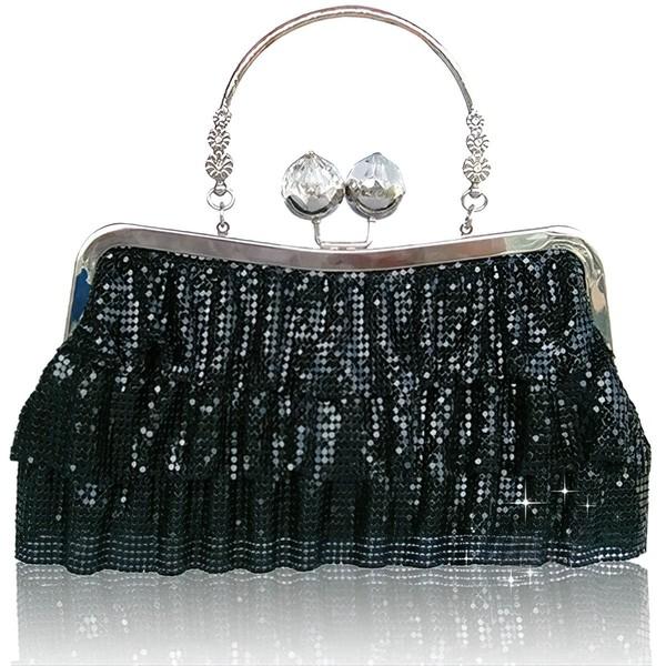 Black Sequin Wedding Metal Handbags