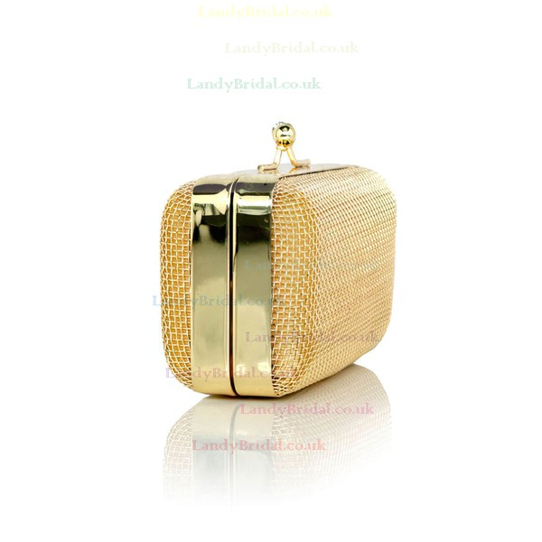 Gold Metal Ceremony & Party Metal Handbags #LDB03160266