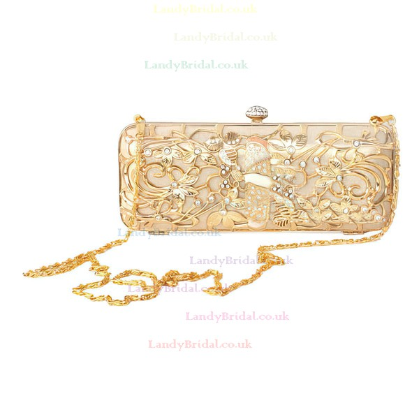 Black Metal Ceremony & Party Crystal/ Rhinestone Handbags #LDB03160267