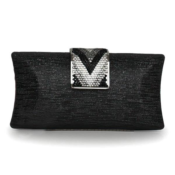 Black Metal Ceremony & Party Crystal/ Rhinestone Handbags