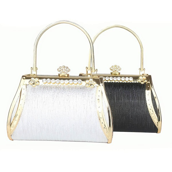 Black PU Office & Career Crystal/ Rhinestone Handbags #LDB03160269