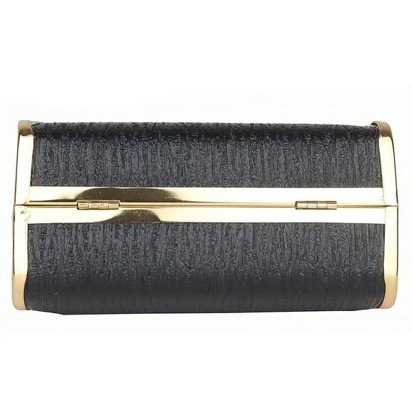 Black PU Office & Career Crystal/ Rhinestone Handbags