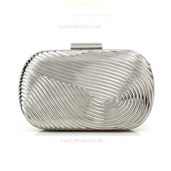 Silver Metal Office & Career Metal Handbags