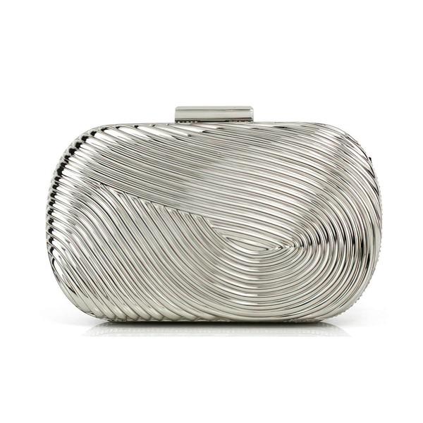 Silver Metal Office & Career Metal Handbags
