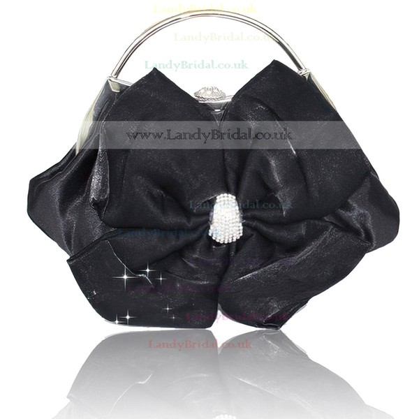 Black Silk Wedding Crystal/ Rhinestone Handbags #LDB03160273
