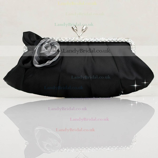 Black Silk Wedding Flower Handbags #LDB03160277