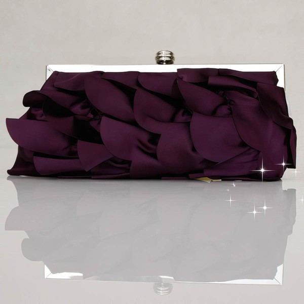 Black Silk Wedding Metal Handbags #LDB03160278