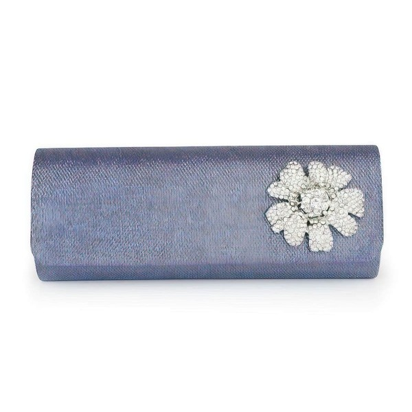 Blue Sparkling Glitter Casual & Shopping Flower Handbags #LDB03160285
