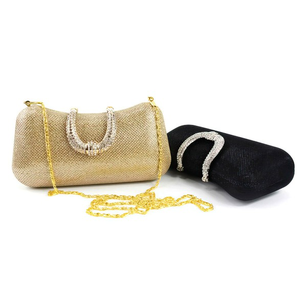 Black Sparkling Glitter Ceremony & Party Crystal/ Rhinestone Handbags #LDB03160286
