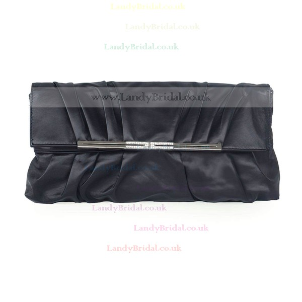Black PU Ceremony & Party Metal Handbags