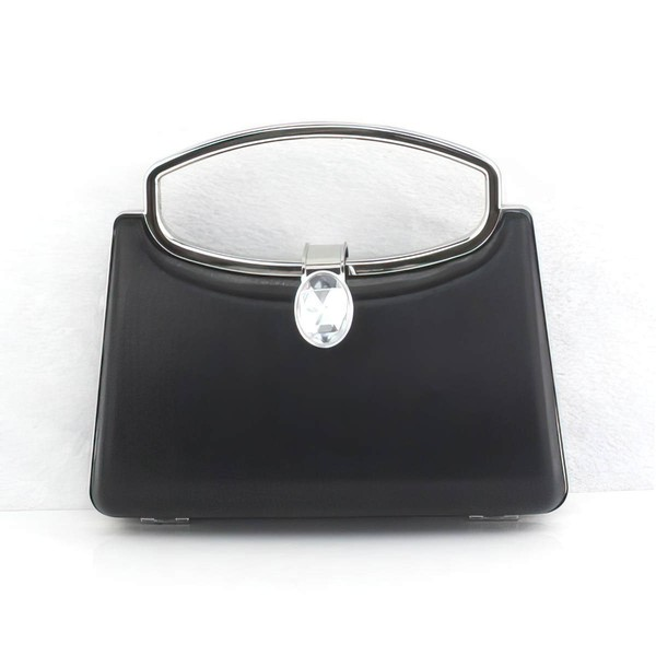 Black PU Casual & Shopping Metal Handbags #LDB03160290