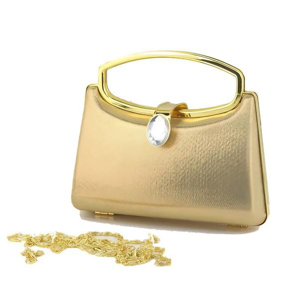 Black PU Casual & Shopping Metal Handbags