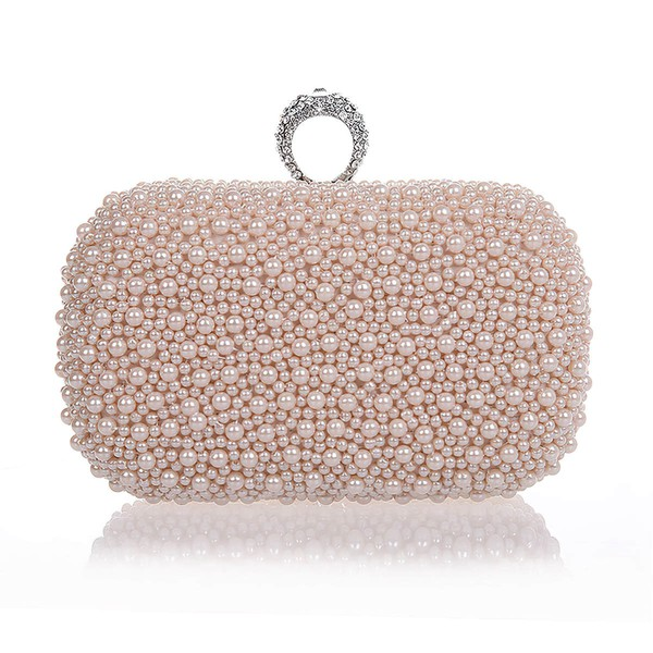 Black Pearl Wedding Crystal/ Rhinestone Handbags